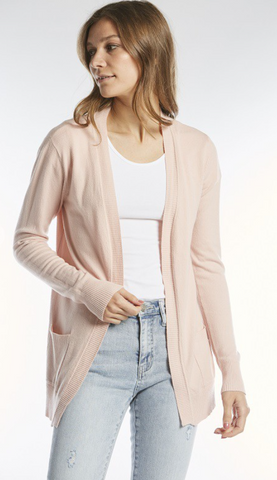 Dusty Pink Soft Cardigan