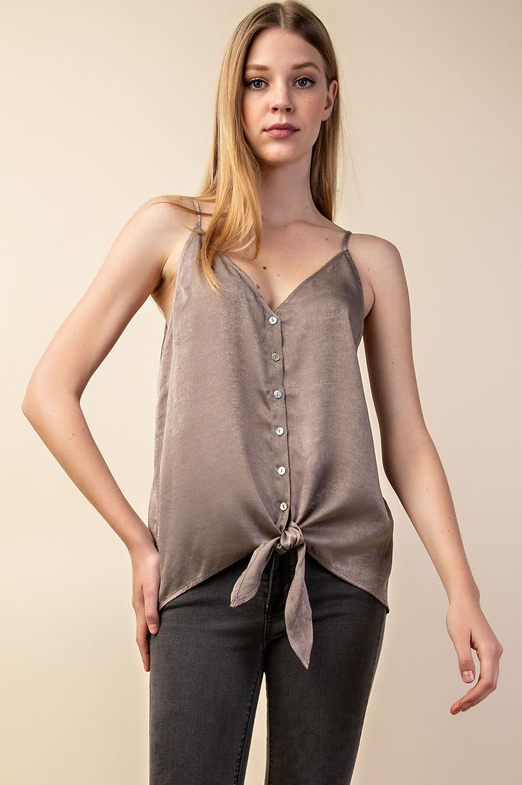 Latte Button Down Cami