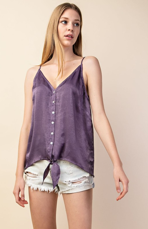 Purple Button Down Cami
