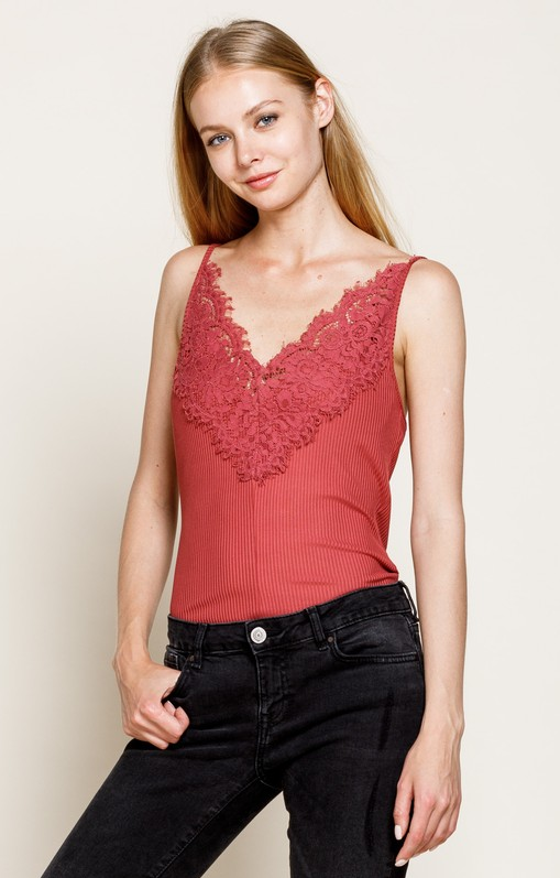 Faded Rose Lace Camisole