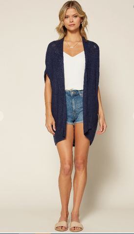 Navy Dolman Sleeve