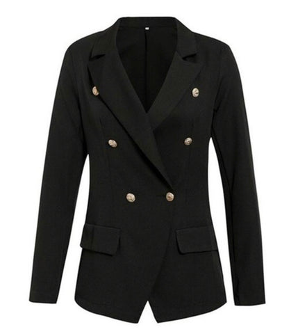 Black Blazer w/ Gold Buttons