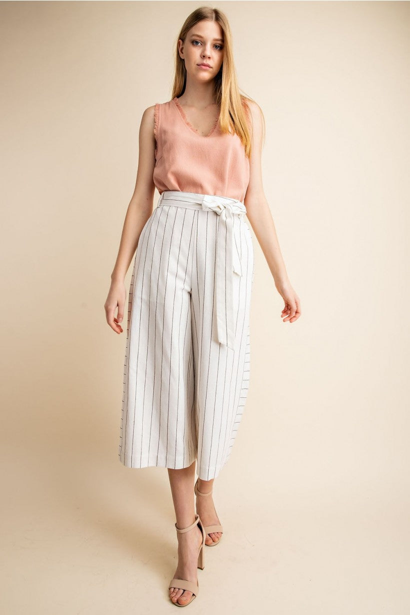 Natural Stripe Culottes