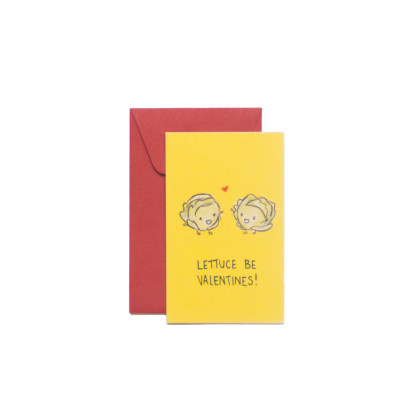 Lettuce Be Valentines Mini-Valentine Card - George Brown College