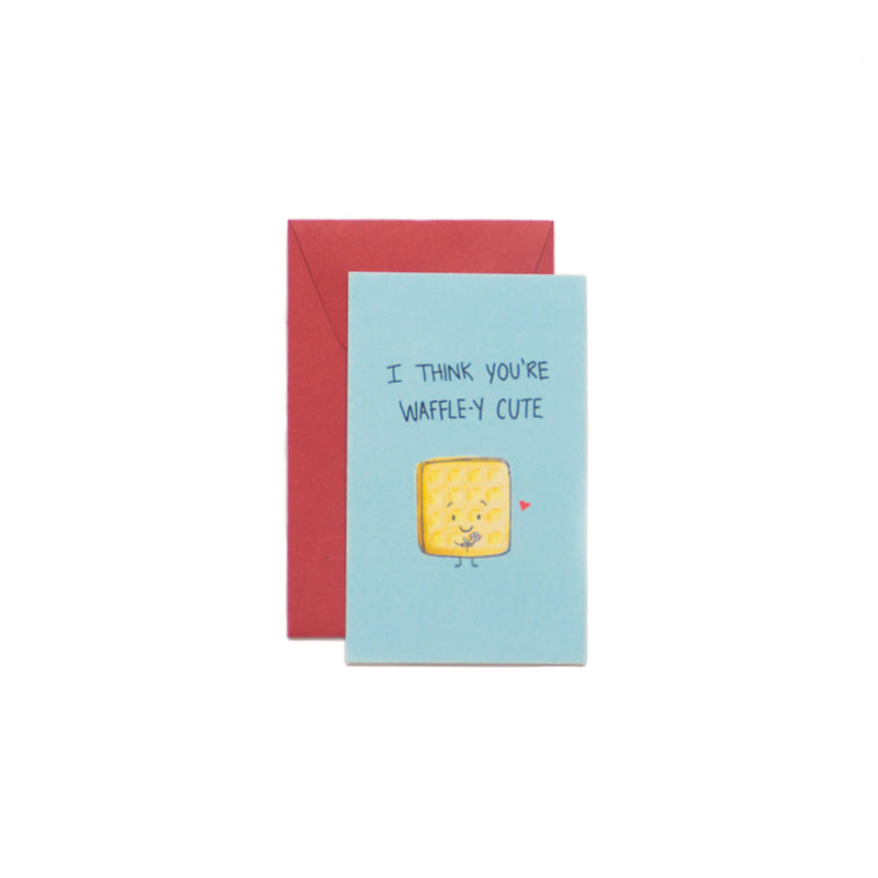 I Think You're Waffle-y Cute Mini-Valentine Card - George Brown College