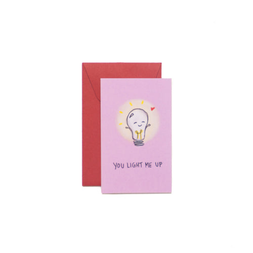 You Light Me Up Mini-Valentine Card - George Brown College