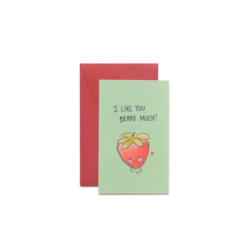 I Like You Berry Much Mini-Valentine Card - George Brown College