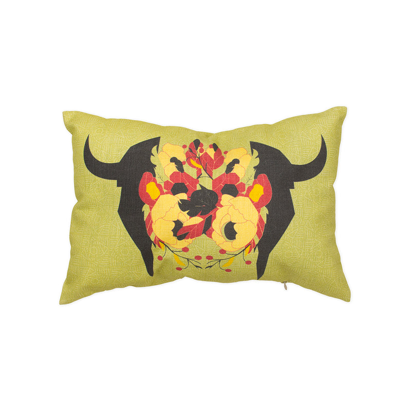 Bison & Flowers Pillow Cover - George Brown College