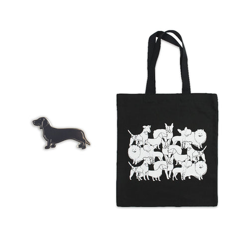 Dog Pin & Tote Bundle