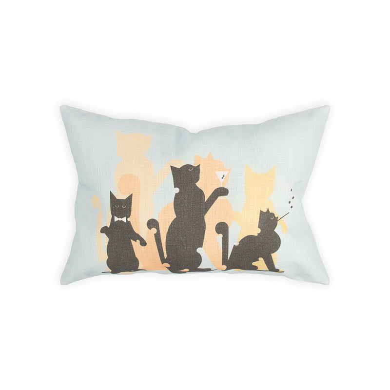 "Cotton ""Jazz Cats"" Pillow Cover - George Brown College"