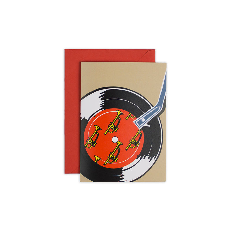 """Record Player"" Birthday Card - George Brown College"