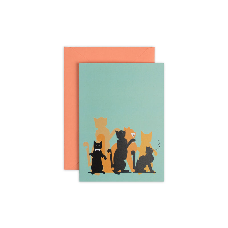 Jazz Cats Greeting Card - George Brown College