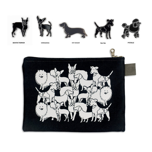 Dog Pin & Zip Bundle