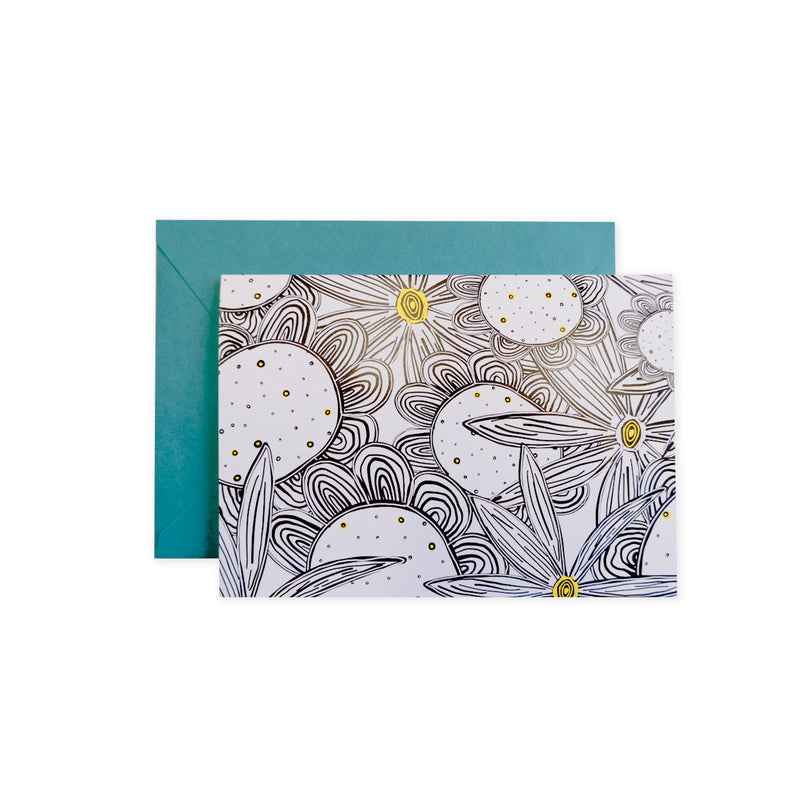 Black & White Flowers Card - George Brown College