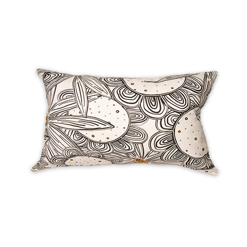 Black & White Flowers Pillow - George Brown College