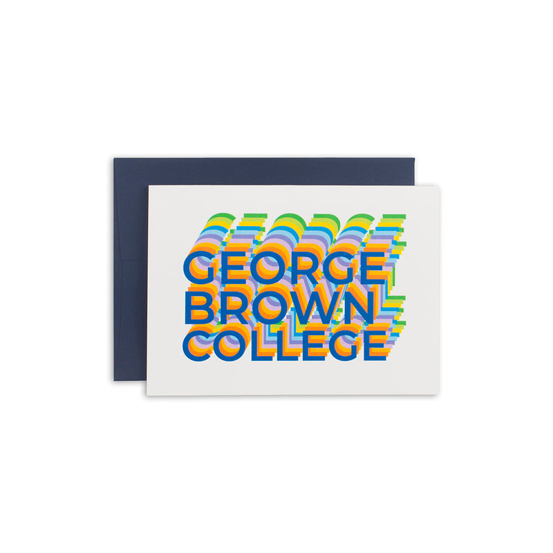 GBC Disco Greeting Card - George Brown College
