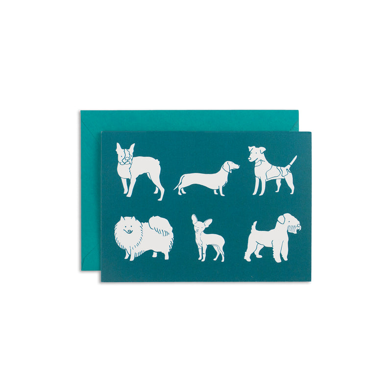 Six Dog Party Greeting Card - George Brown College