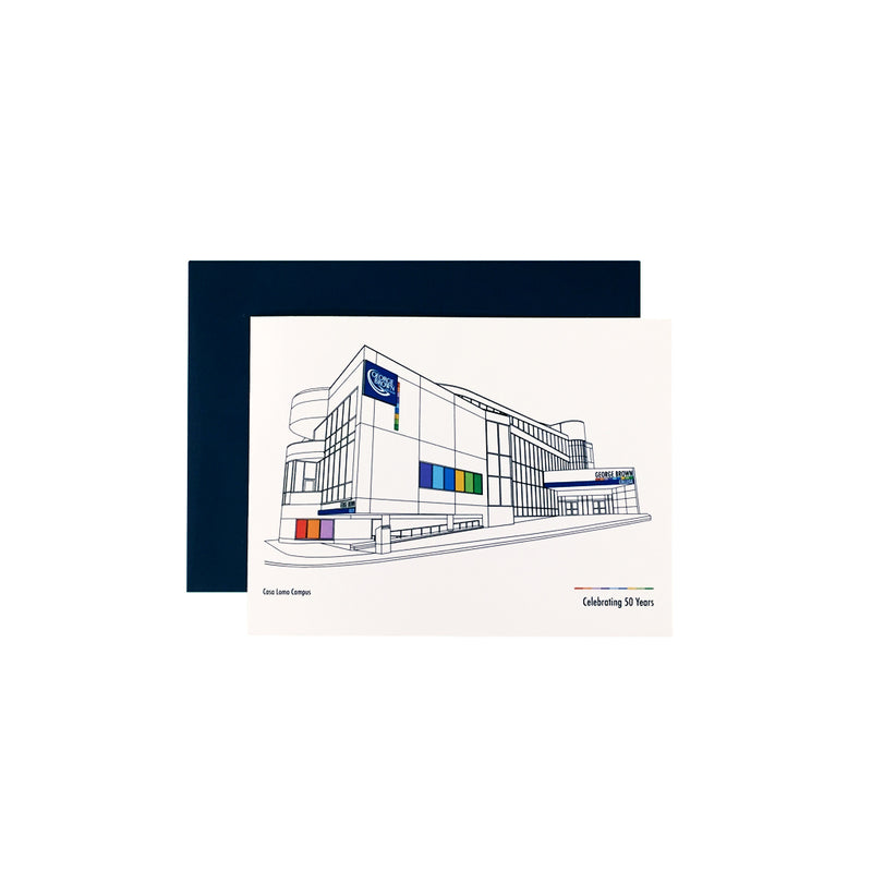 "GBC 50th ""Casa Loma"" Greeting Card - George Brown College"