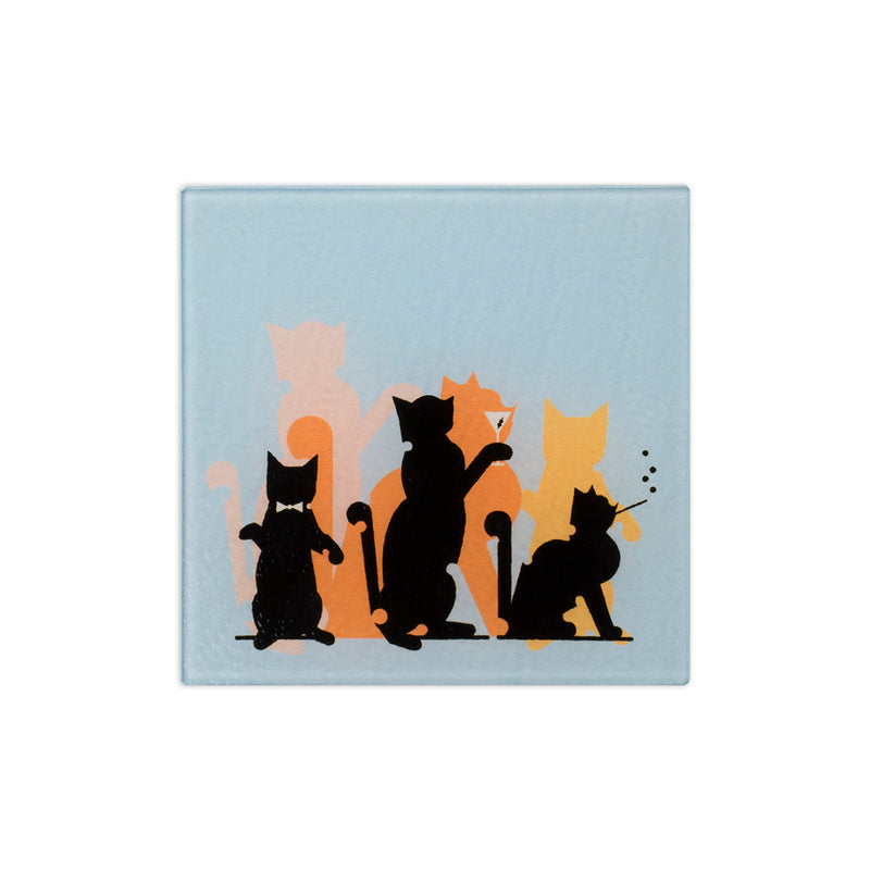 "Glass ""Jazz Cats"" Trivet - George Brown College"