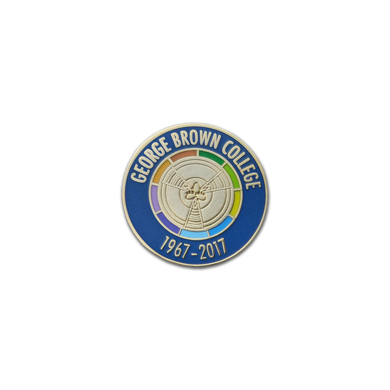 GBC 50th Mace Lapel Pin - George Brown College