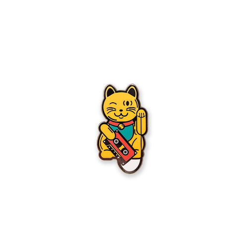 Lucky Cat Enamel Pin - George Brown College