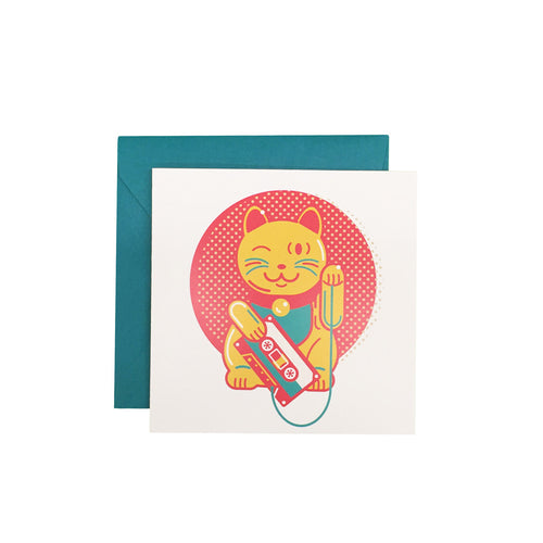 Lucky Cat Greeting Card - George Brown College