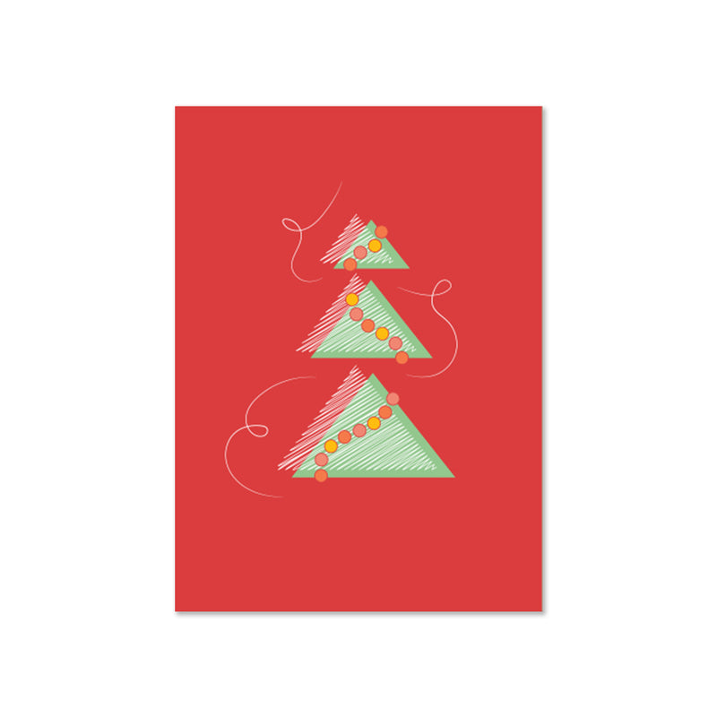 Graphic Holiday Tree Card