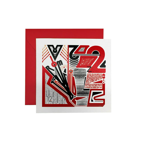 Experimental Type ROM 1222 Greeting Card - George Brown College