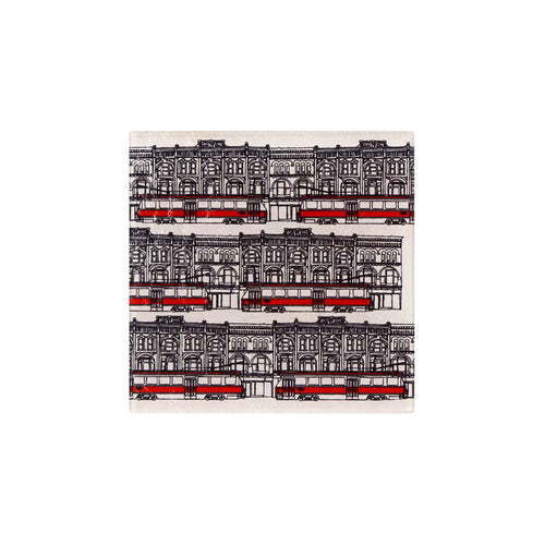 "Glass ""Toronto Streetcars"" Trivet - George Brown College"