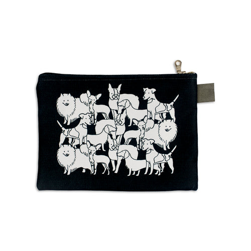 Mixed Dog Party Zip Pouch - George Brown College