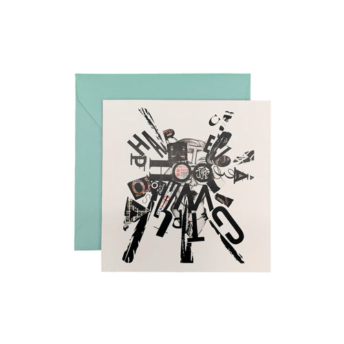 Typography Kats Hoku Greeting Card - George Brown College