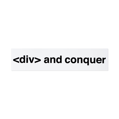 <div> and conquer Sticker - George Brown College