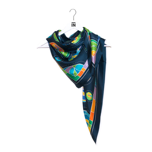 "GBC 50th ""Pathways"" Silk Scarf - George Brown College"