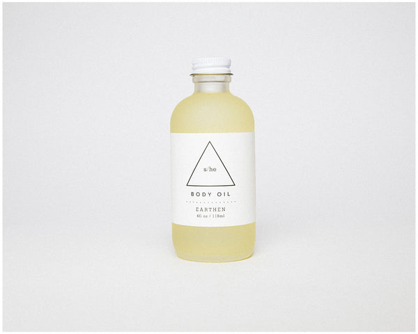 EARTHEN BODY OIL - 4 oz