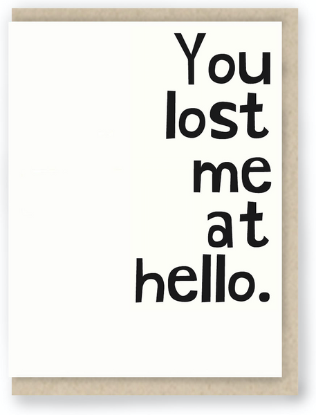 143 - YOU LOST ME