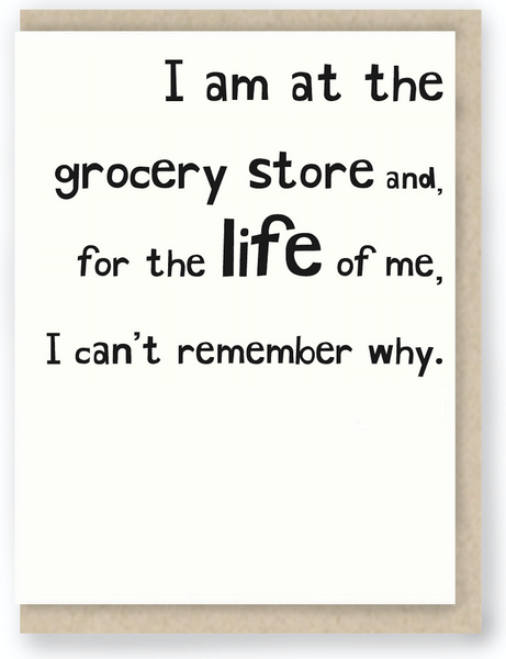531 - I AM AT THE GROCERY STORE