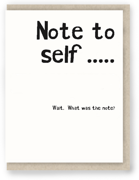 919 - Note to self