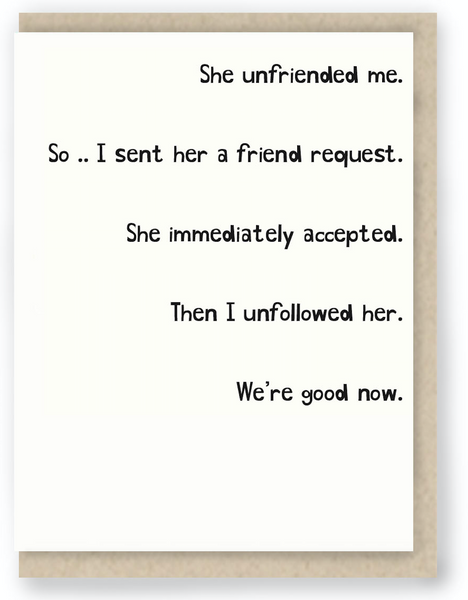 She unfriended me | The 7 Stages Of Coping With An Ex's