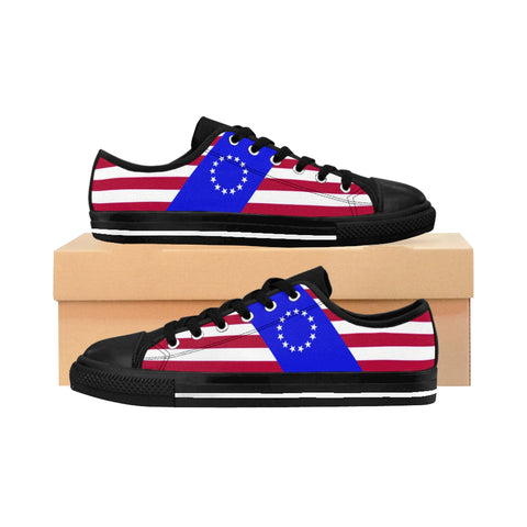 Betsy Ross Flag Striped Shoes, by Prime Patriot