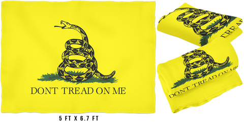 Large FLEECE Don't Tread On Me Blanket