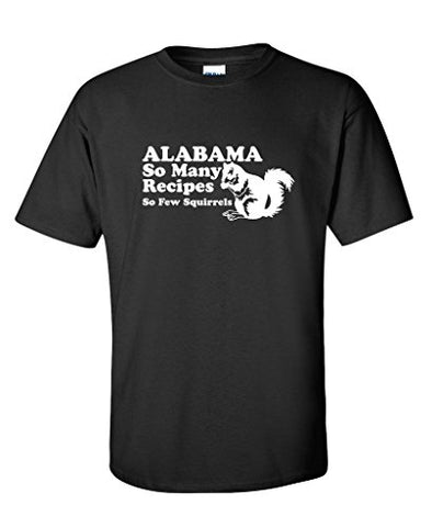 Alabama So Many Receipes So Few Squirrels Men's Vintage Funny Redneck T Shirt