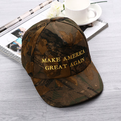 1PC Unisex Adjustable Republican Donald Trump MAKE AMERICA GREAT AGAIN Camo Cotton Cap Hat Presidential Candidates Hat Hot