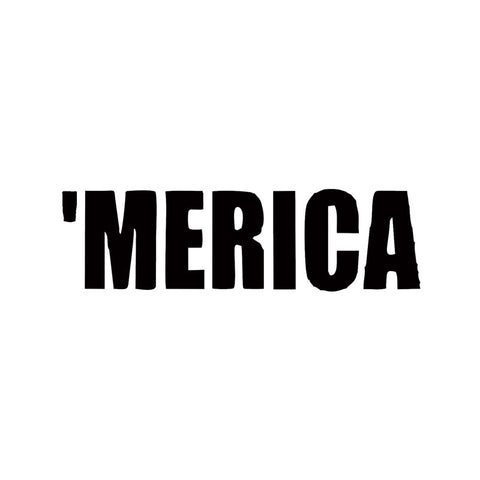 Merica Vinyl Car Window Decal America USA Funny Pride Redneck Sticker Decor