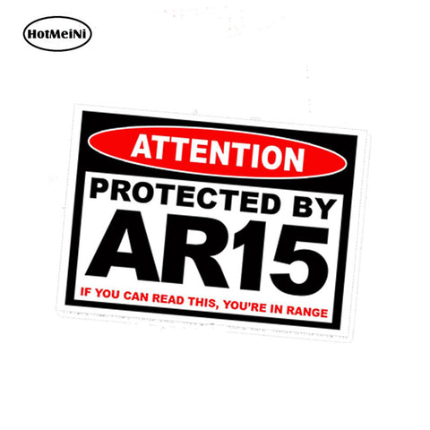HotMeiNi 13cm x 9.75cm Car Styling Protected AR15 AR 15 Warning Sticker Rifle Gun Safe Ammo Amendment 2A PAIR Car Sticker