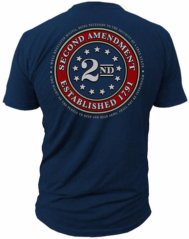 2018 New Tee Men T Shirt Hot Sale Clothes 2nd Amendment Brand Seal of 1791 Vintag American Flag Second 2A Made of USA T shirt