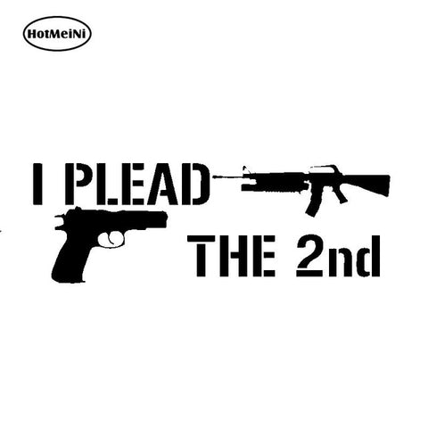HotMeiNi 18cm Second Amendment Decal 2a 2nd Gun Rights Vinyl Car Sticker Ar15 Pick Size  Bumper Accessories Black/Sliver