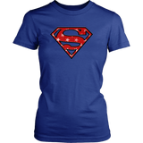 Super Patriot Stars on Red T Shirt
