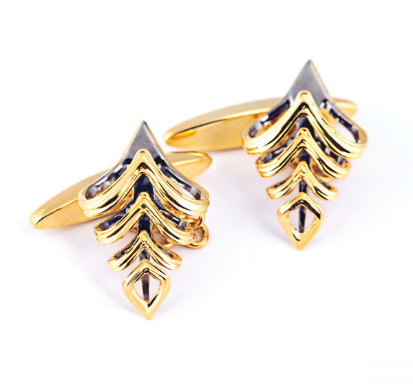 AXIOM CURVE.4 GOLD CUFFLINK