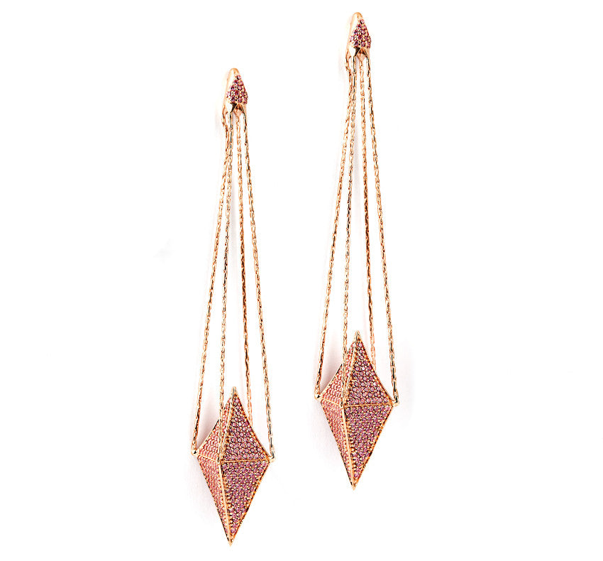 OPULENCE ROSE  EARRING