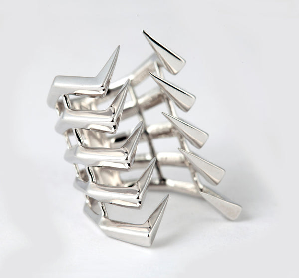 AXIOM LINEAR.10 SILVER RING